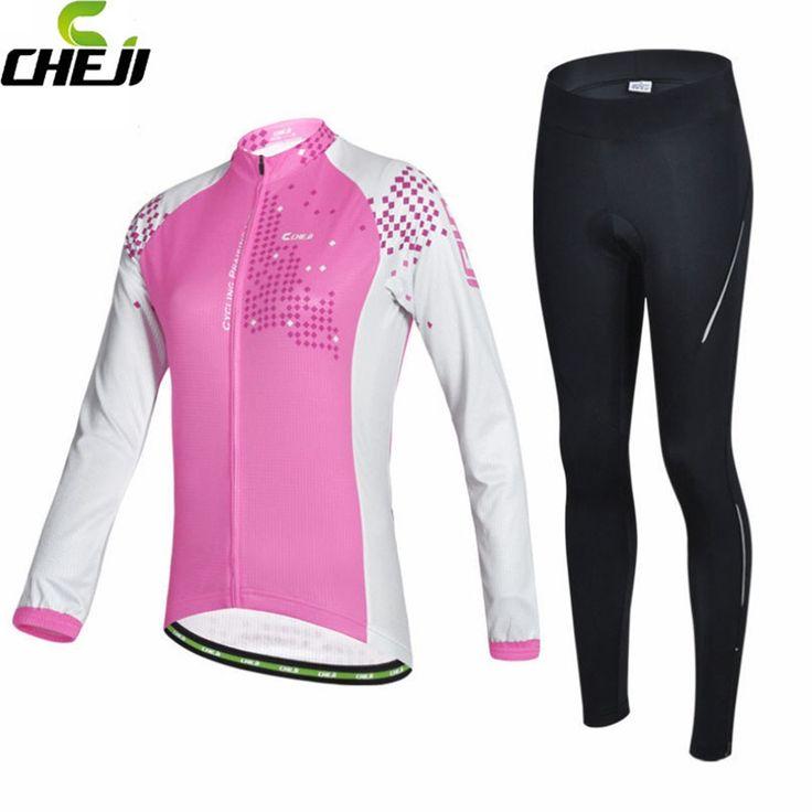 CHEJI Women Cycling Jersey Pro Team Long Sleeve  #CyclingPants