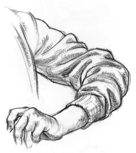 "How to Draw Fabric Folds Tutorial by Barbara Bradley (from her book, ""Drawing People: How to Portray the Clothed Figure"")"