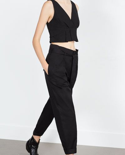Image 3 of PLEATED TROUSERS from Zara