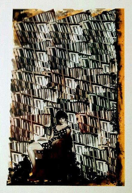 Librido Collage cm 60*40 autore Toto Dinoi LIBRIRITRATTI 2004