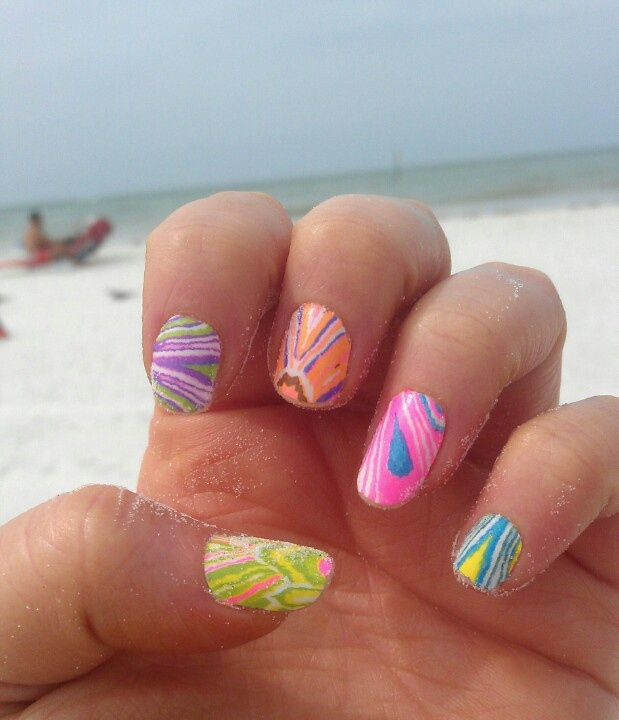Spring Break Beach Nails