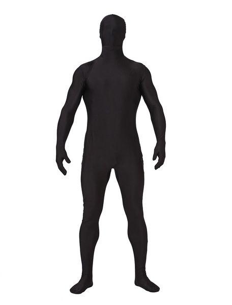 Halloween Zentai Suits Black Spandex Full Bodysuits #Zentai   #Bodysuits