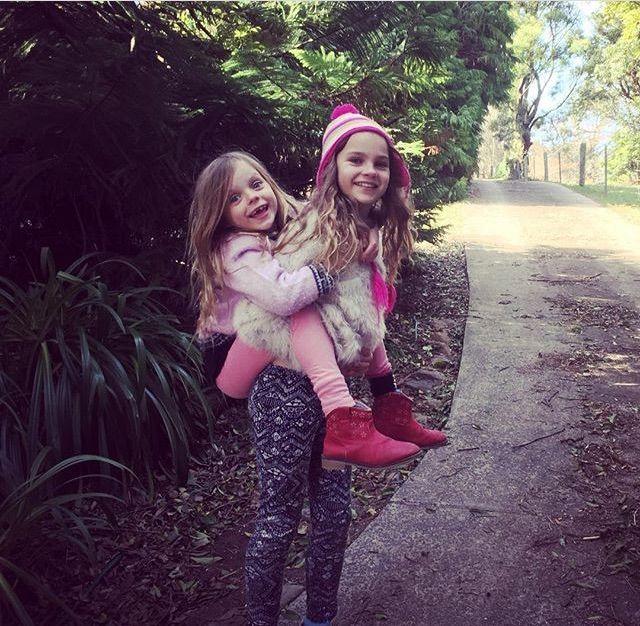 Bella Wilson and her sister Mirabai in Robertson.