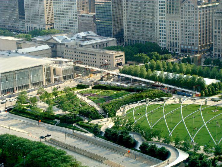 17 best images about lurie garden millenium park on for Chicago landscape