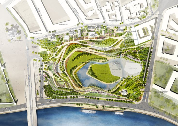 Bustler: 2nd-place Zaryadye Park competition entry by team TPO Reserve
