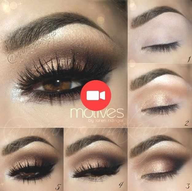 Rauchiges Auge Aus Gold Maquillage Smoky Eye Yeux Bruns Cheveux