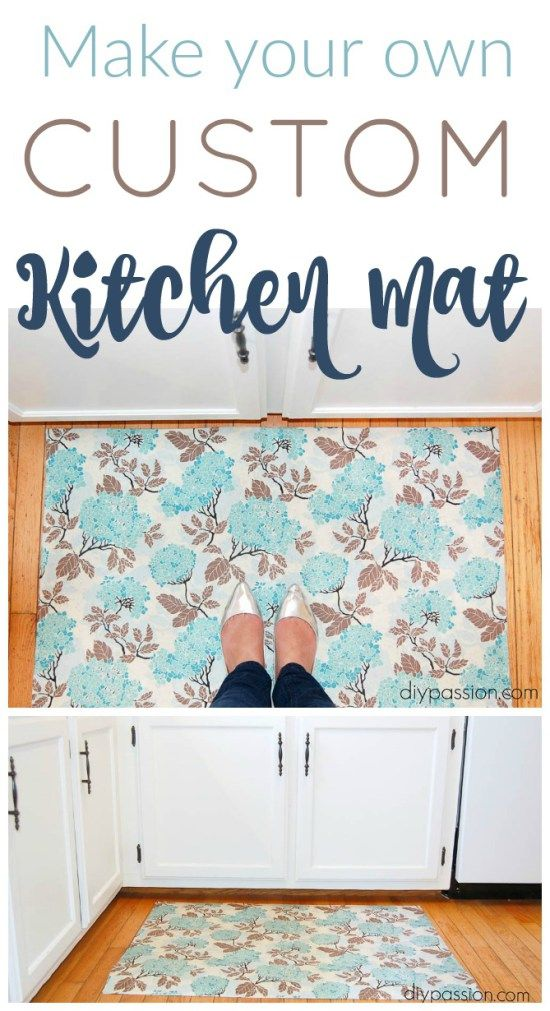 You won't believe how EASY it is to make a CUSTOM kitchen Mat to suit your DECOR! This is a great TUTORIAL! :)