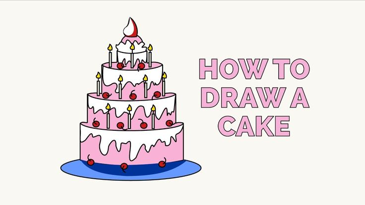 Learn How to Draw Cake: Easy Step-by-Step Drawing Tutorial for Kids and Beginners. #Cake #drawingtutorial #easydrawing See the full tutorial at https://easydrawingguides.com/how-to-draw-a-cake/.