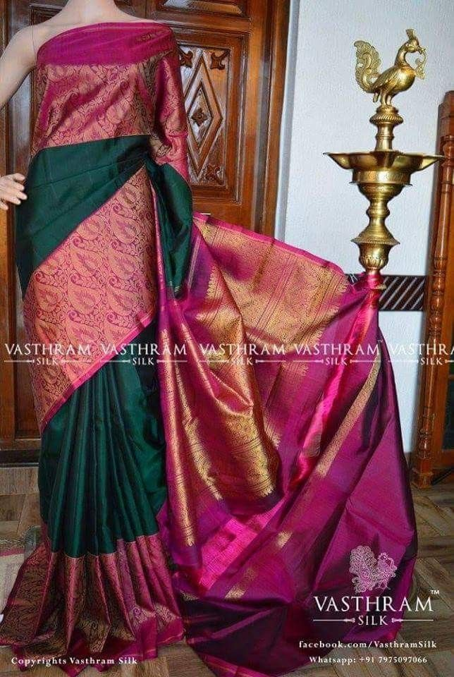 Pure kanchivaram silk saree Cost : 22000 INR Status: Available Please note: The ... 2