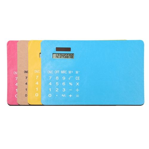 8 Digits Solar Power Mouse Pad Calculator HY-510PU.  Email: sales5@gifthanyu.com  Whatsapp: 86-18042051913