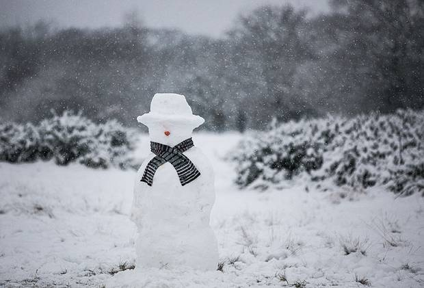 Less is more: a minimalist snowman  Jeff Moore