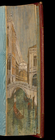 Bookbinding edge decoration from the Cary Graphic Arts Collection