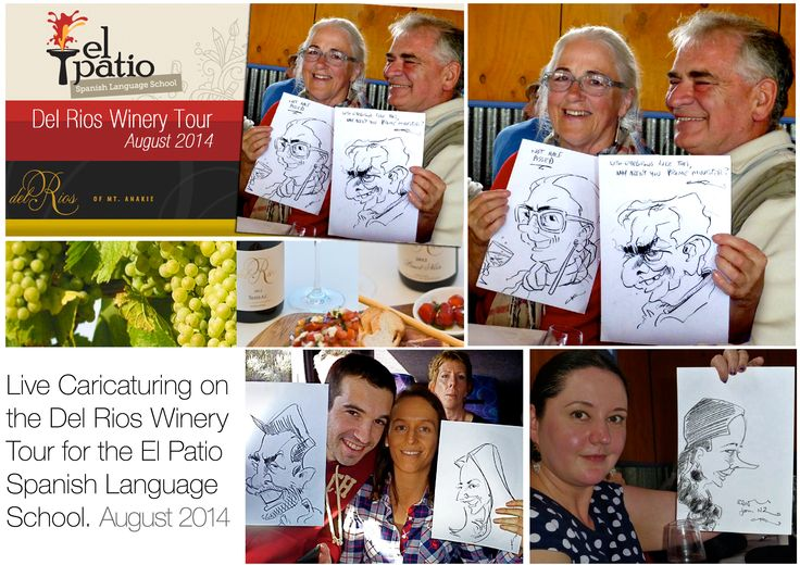 Caricaturing atthe Del Rios Winery, Mt Anakie