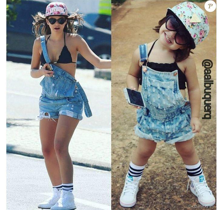 Em 29 de dezembro de 2015, Alice Albuquerque escolheu um look usado por Bruna Marquezine para passear em Los Angeles