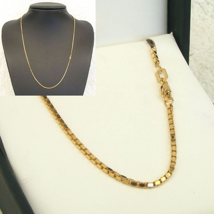 Buy 9ct Gold Gold Box Chain (MM-BOX-0003) online at Chain Me Up