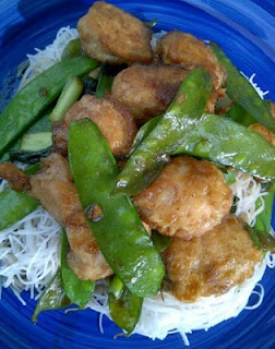 Crispy Asian Chicken and Snow Peas. Also lots of dairy and gluten free recipes