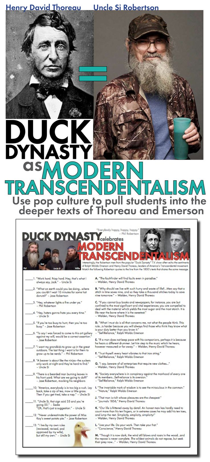 "ok, so I think ""Duck Dynasty"" is scripted & commercialized, and I dislike ""Teachers Pay Teachers,"" but this is an interesting notion."