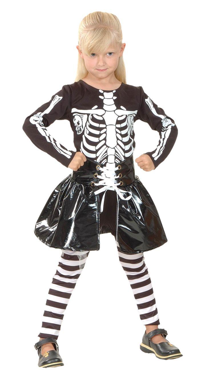 Halloweenskeletkostuum voor kinderen : Vegaoo Kinder Kostuums