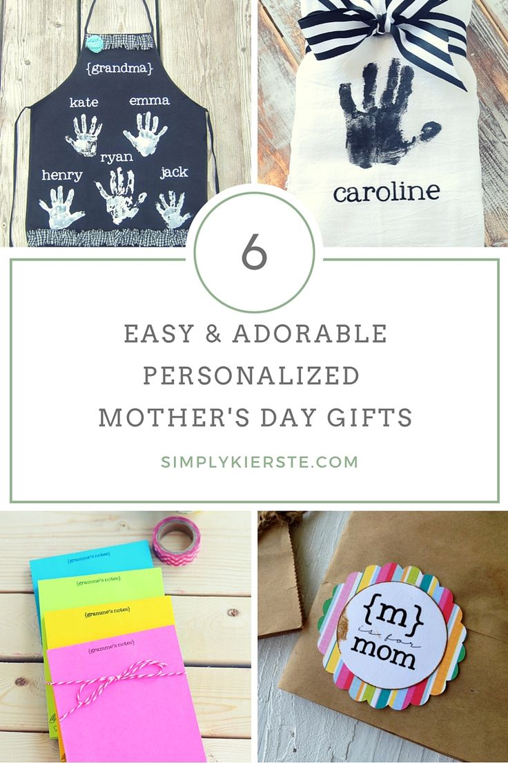 These personalized and handmade Mother's Day ideas are easy & adorable, and ...