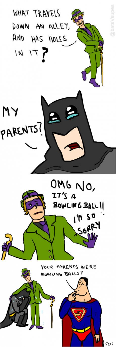 Batman doesn't do well with riddles