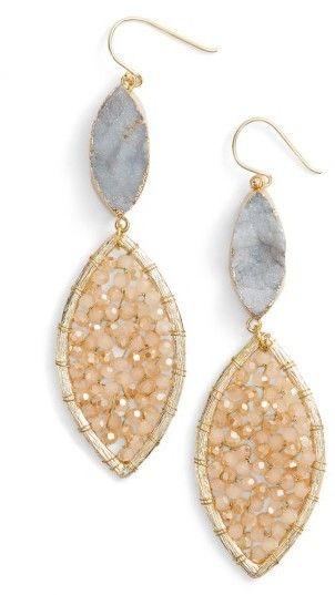 Women's Panacea Sunstone Crystal Earrings