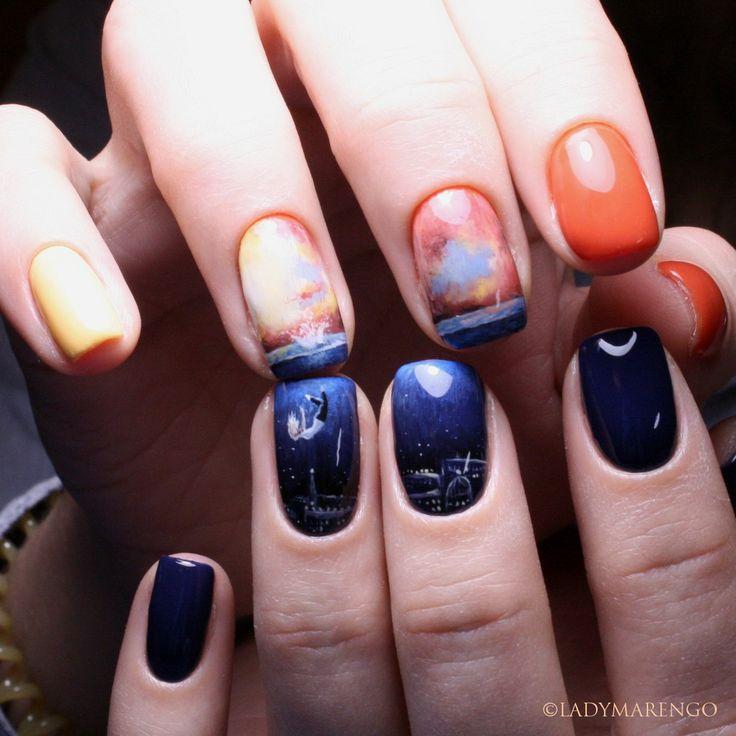 #geeknails #ladymarengo #шеллак #гельлак #нейларт #ногти #маникюр #дизайнногтей #nailart #naildesign #nails  #falling