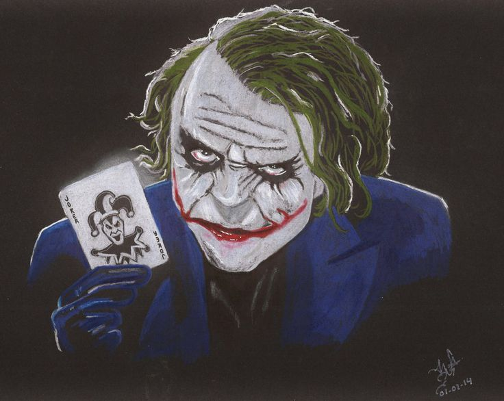 HEDGE LEDGER AS JOKER by PIERNODOYUNA.deviantart.com on @deviantART