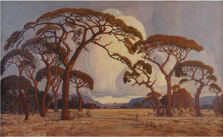 I used to go on painting outings with my Nanna as a child living in Zimbabwe and as a result I have always enjoyed the South African landscape painter Jacobus Hendrik Pierneef. He was considered to be one of the best old South African Masters.