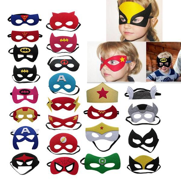 Captain Mask for Kids Super Hero Costume Birthday Toy Gift for Children Halloween Cosplay Masquerade Party Blue