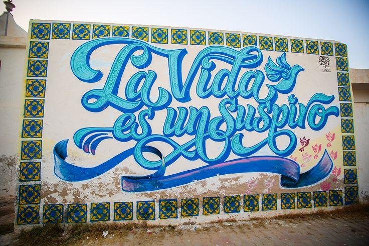 Elliot Tupac (Peru) #streetart #erriadh #djerba #tunisia #acrylic