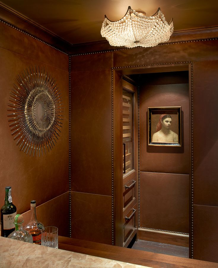 Our Baldachino Ceiling Fixture Shines In This Bar And Wine Cellar Designed By Frank Ponterio Interior Design Available At Michael Taylors San Francisco
