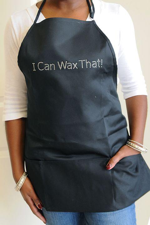 #waxing apron! I Can Wax That!! #brazilianwaxing