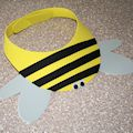 From Bumble Bee Visors to Frog Visors, Here Are Foam Visor Craft Ideas: Bumble Bee Visor