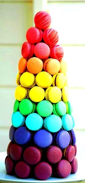 Colorful pics - Rainbow macaroon tower color