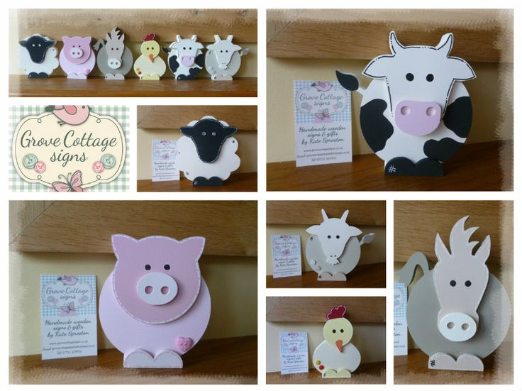 *NEW* Farm family #handmade #grovecottage #farmanimals #new #woodenshapes #woodengifts