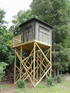 Hunting Stand Designs : Free homemade deer blind plans new hunting blind on stand