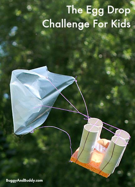 STEM for Kids: Egg Drop Challenge- The egg drop project is one of our favorite science and engineering challenges for kids of all ages! Includes free printable recording sheet! ~ BuggyandBuddy.com