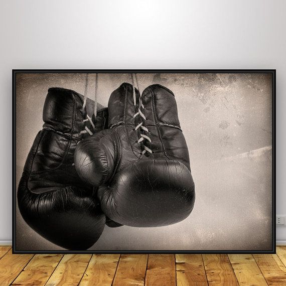 Boxing poster, Boxer gloves, Fine art print, Home wall decoration, Digital poster, Printable art, Vintage poster, Digital photo art download