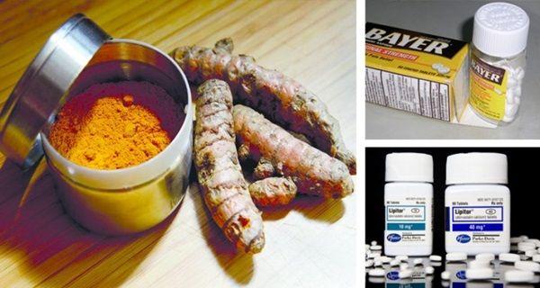 TURMERIC AS EFFECTIVE AS ASPIRIN, PROZAC, LIPITOR, METFORMIN AND 10 OTHER DRUGS