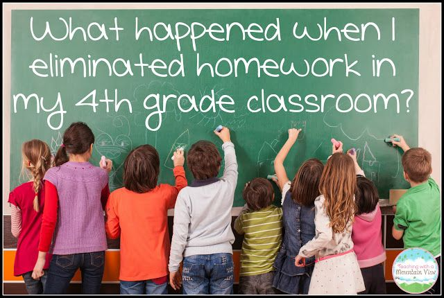 Teaching With a Mountain View: No Homework Policy: One Year Later - What I learned from eliminating homework in my 4th grade classoom. Reflections from an upper elementary teacher.