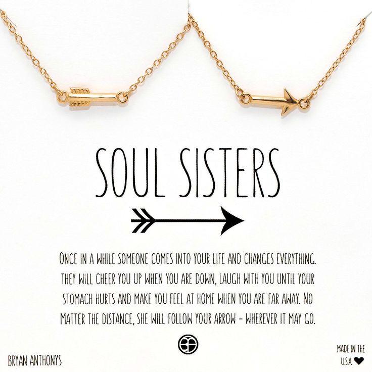 Soul Sisters Arrow Necklaces   Best Friends, Sisters