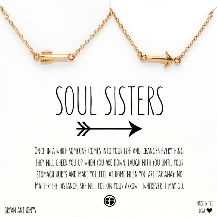 Soul Sisters Best Friend Arrow Necklaces