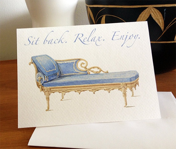 Sit Back Relax Enjoy Fathers Day Blank Card by Kardies on Etsy, $4.00