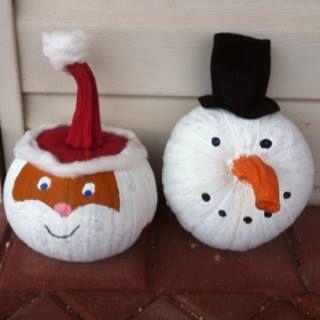 Leaf and letter handmade no budget christmas decor popsicle sticks - 9 Best Pumpkins For Christmas Images On Pinterest