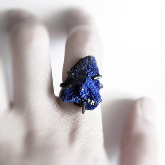 I definitely just put this on my wish list!    Deep  oxidized sterling silver deep blue azurite by andrea0503, $155.00: Deep Oxidized, Blue Azurit, Beautiful Colors, Silver Deep, Azurite Rings, Azurit Rings, Sterling Silver Rings, Deep Blue, Oxidized Sterling Silver