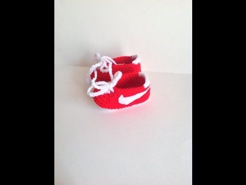 How to Crochet Nike Inspired Baby Booties | Our Daily Ideas