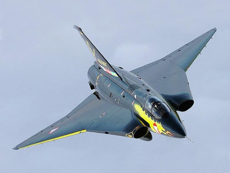 Austrian Saab J-35 Draken,                              …