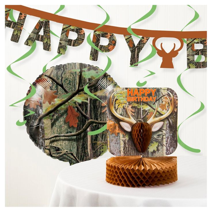 Hunting Camo Party Decorations Kit,