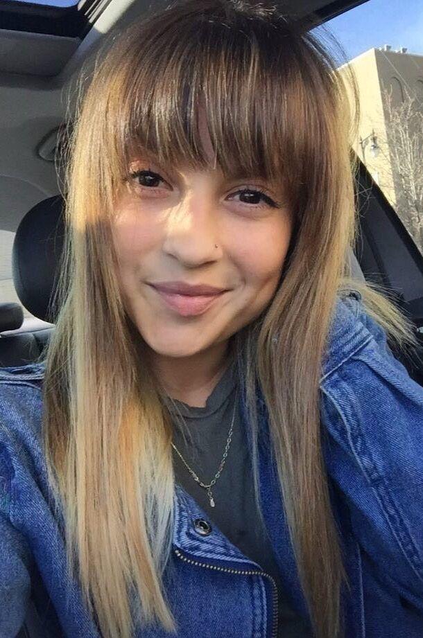 Blonde Balayage With Heavy Blunt Bang Hair Portfolio