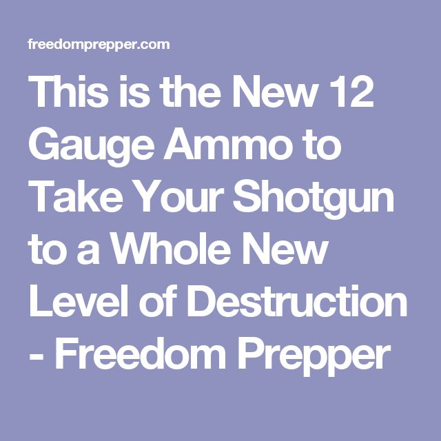 This is the New 12 Gauge Ammo to Take Your Shotgun to a Whole New Level of Destruction - Freedom Prepper
